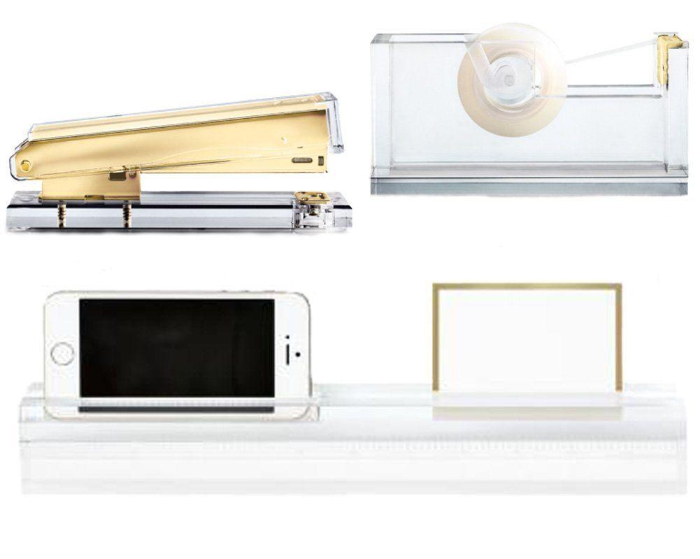 amazon com russell hazel acrylic desk accessory bundle with rh pinterest com