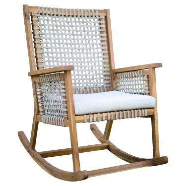 belham living raeburn rope and wood outdoor rocking chair in 2019 rh pinterest com
