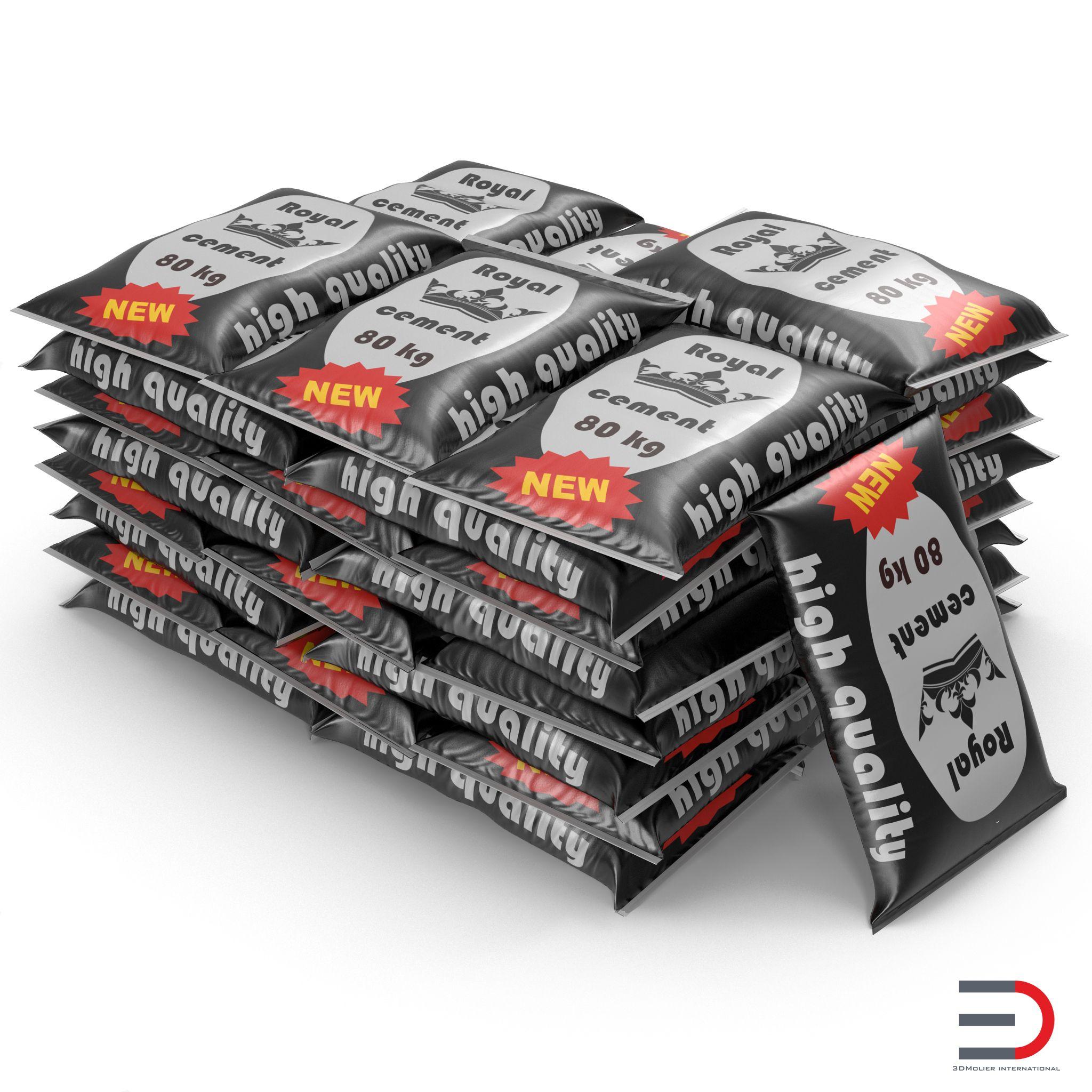 Cement bags 3d models
