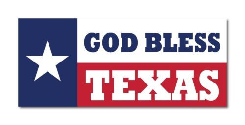 God bless texas flag banner lone star sticker decal 7x3 bumper sticker decal