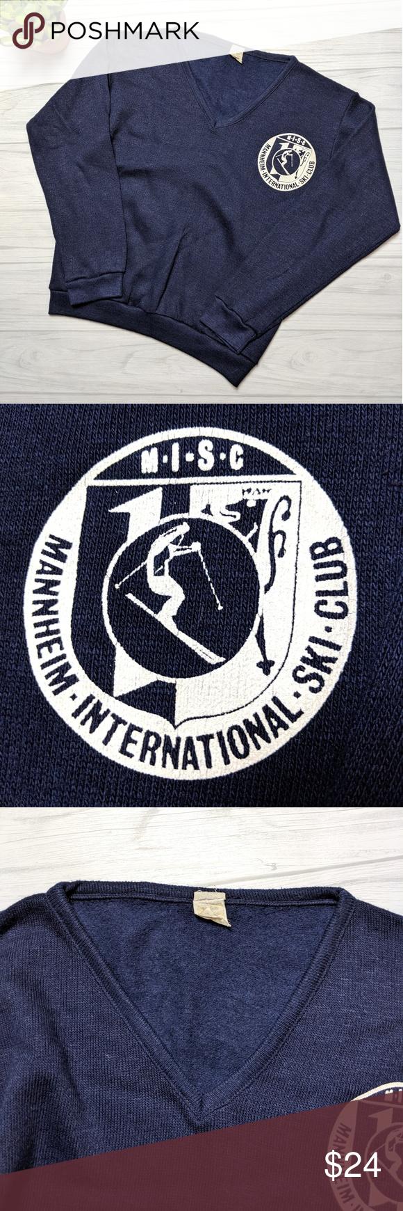 Vintage Mannheim International Ski Club Sweater Sweater Club Ski Club Vintage Sweaters