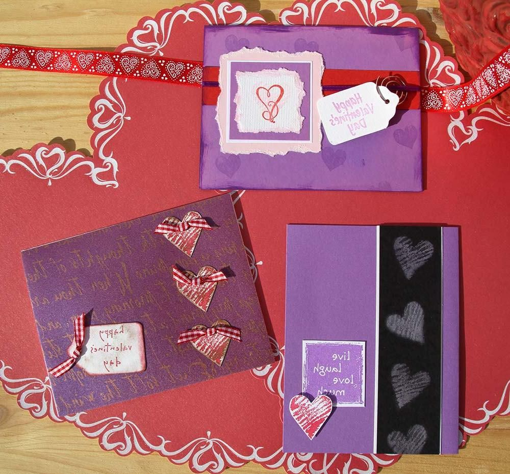wedding anniversary card pictures%0A pinterest valentine cards for parents   Purple Valentine Card Set Of   Greeting  Cards Love Wedding