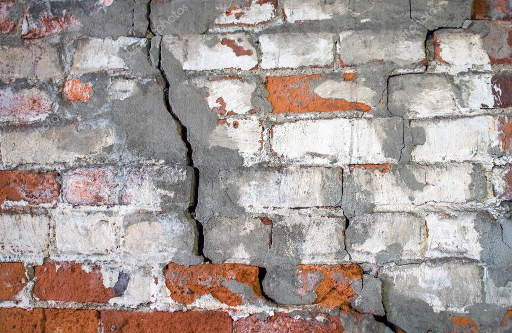 Crumbling Brick Wall With Cracks Stock Photo Ad Wall Brick Crumbling Photo Ad