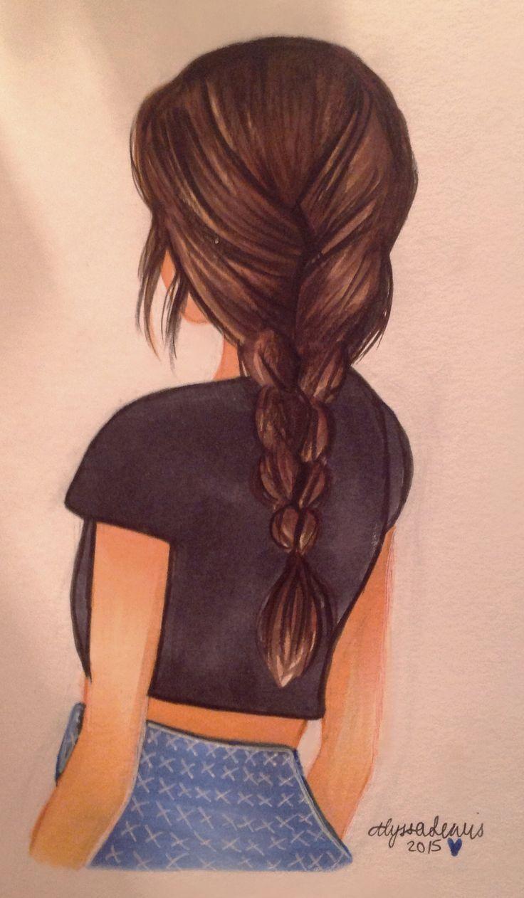 Drawing Of Girl With Long Hair Best 25 Girl Hair Drawing Ideas On Pinterest Desenho De Cabelo Desenhos De Moda Meninas Tumbler