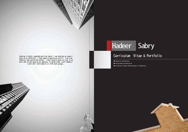 Hadeer Sabry ; Architect'S Portfolio On Behance | Portfolio