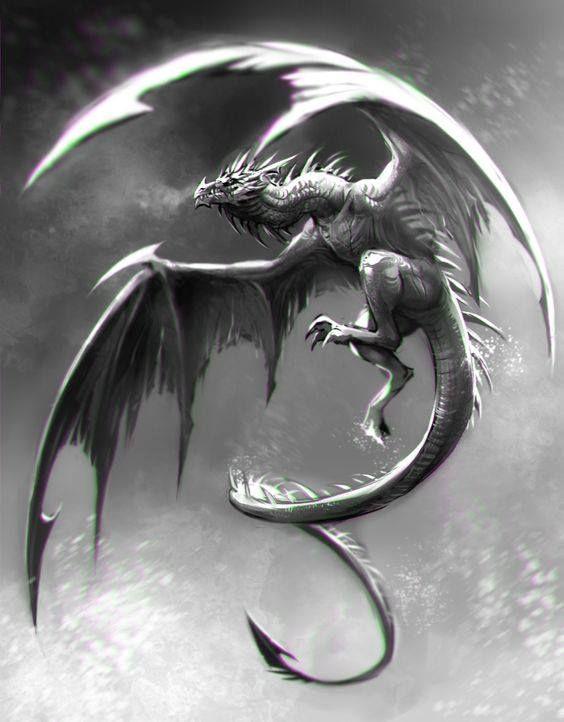 かっこよく飛び上がったドラゴンの壁紙