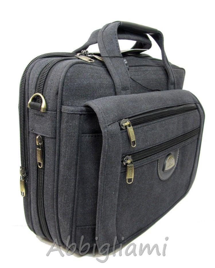 Borsa 24 Ore Tracolla Porta Documenti PC Laptop Tablet Ufficio Lavoro C3002 27758536c89