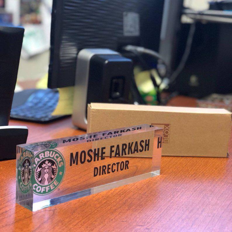 personalized name plate for desk custom office decor nameplate rh pinterest com
