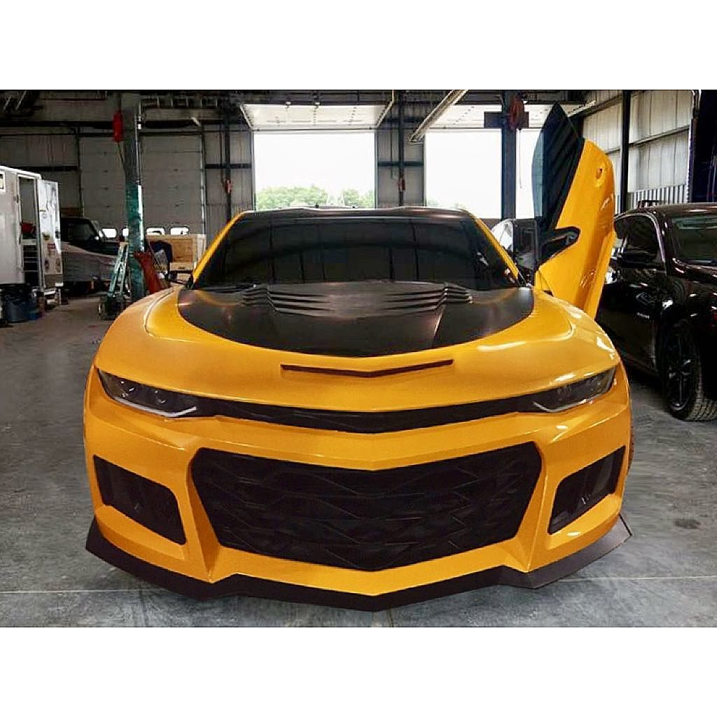 bumblebee in the transformation the zl1 front bumper installed rh pinterest com