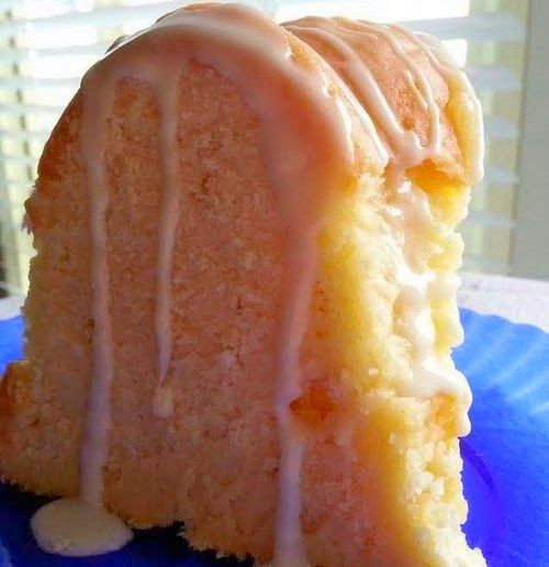 Cream Cheese Pound Cake - This a great pound cake! The texture is truly like velvet. It was golden on the outside, creamy white on the in. And it was just delicious..