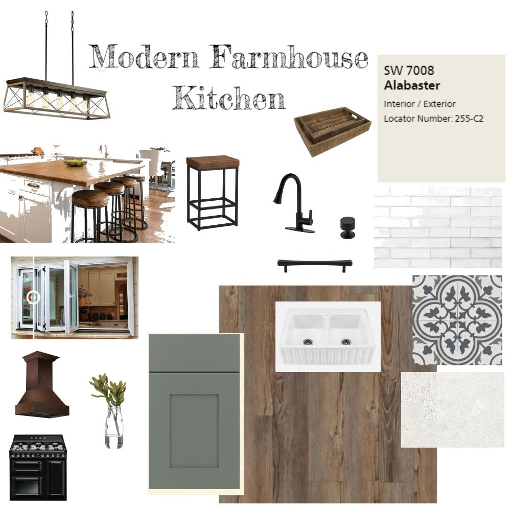 Modern Farmhouse Kitchen Interior Design Mood Boar