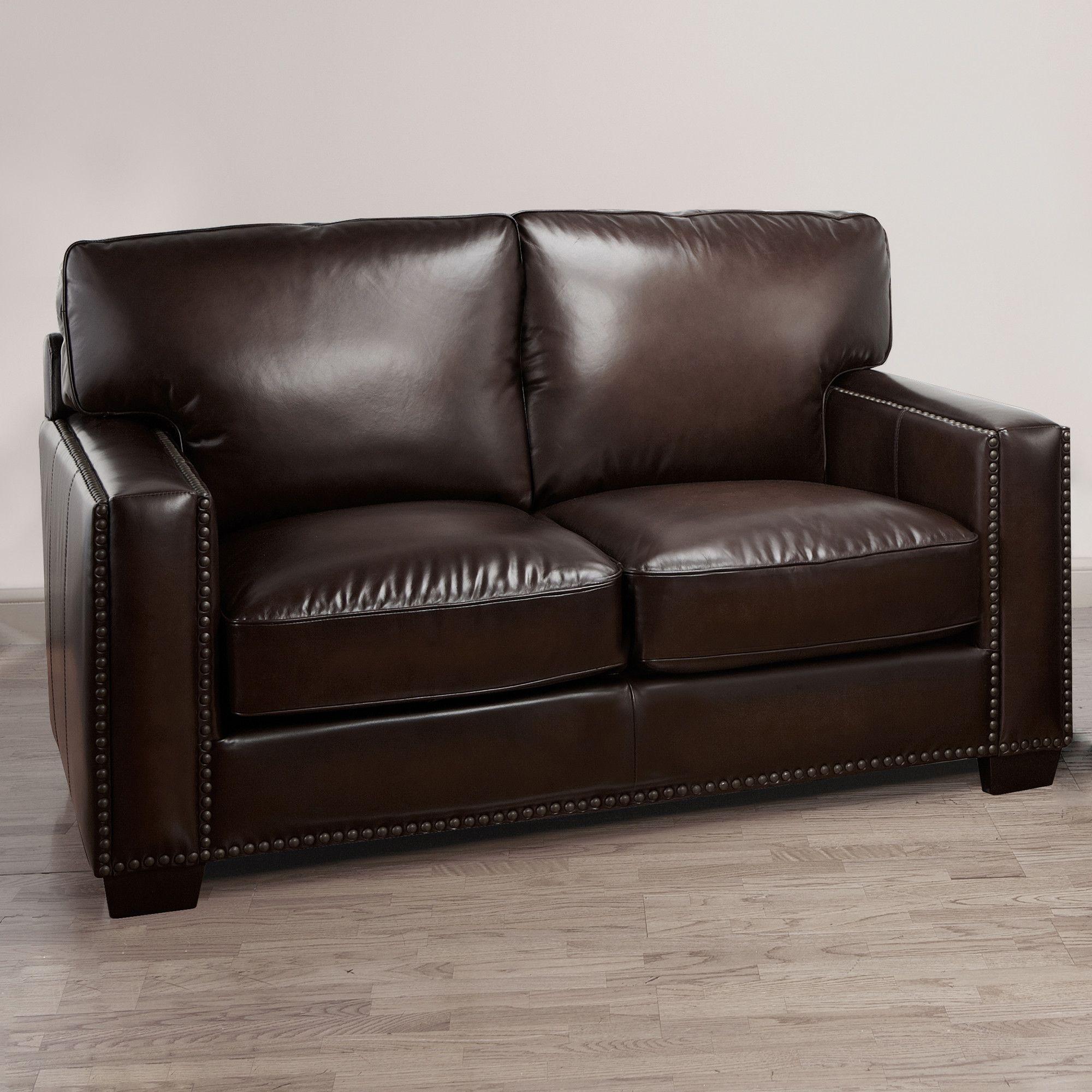 Decoro Campaign Stationary Leather Loveseat Loveseats Best Sofa