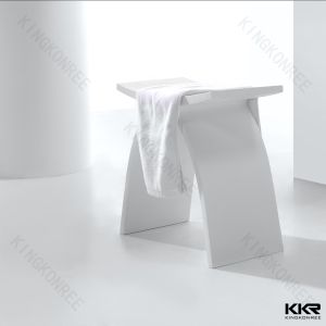 Solid Surface Resin Stone Shower Bench Stool