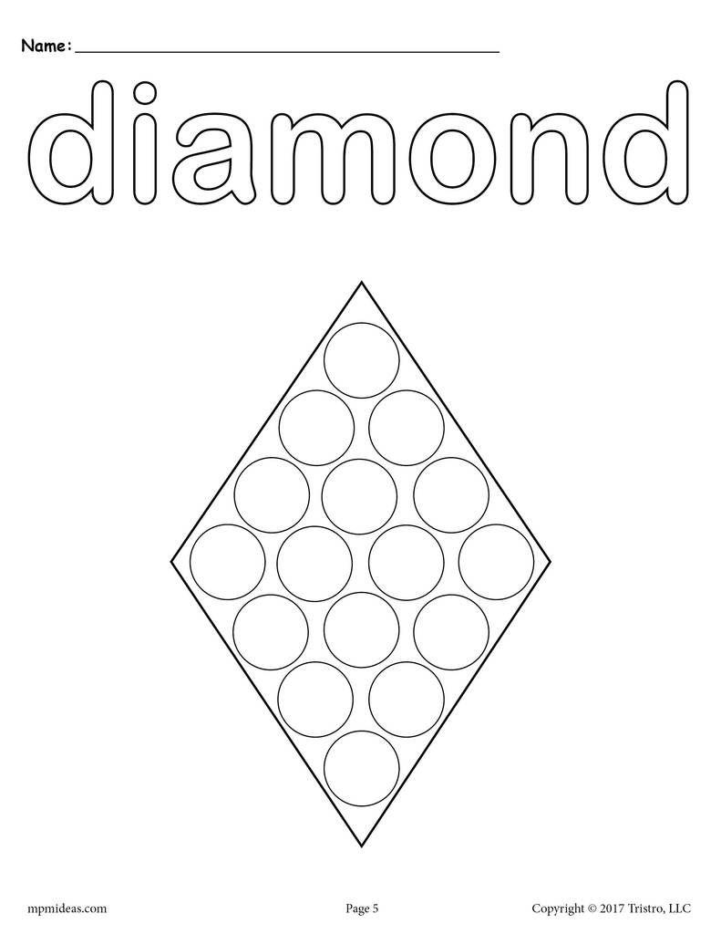 12 shapes do a dot printables toddler activities do a dot rh pinterest com