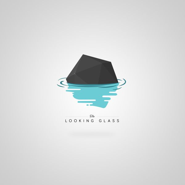 Love the simple illustrated water and geometric shape.  It's got depth as well, as you start to realize that the simple hexagon is a 3d shape
