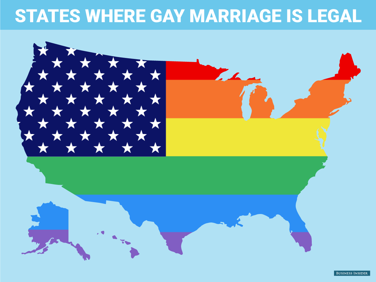 On Opposite Coasts, Support For Gay Marriage, Recreational Pot