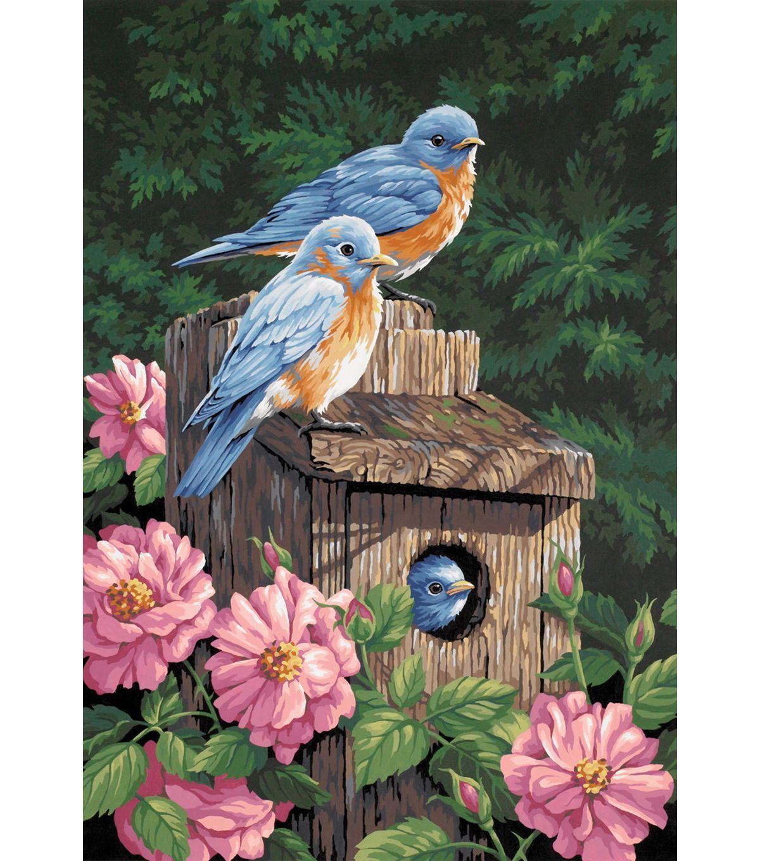 Dimensions Paint By Number Kit 14″ x 20″ Garden Bluebirds – Kids & Teachers – Activity Kits – Art Ki