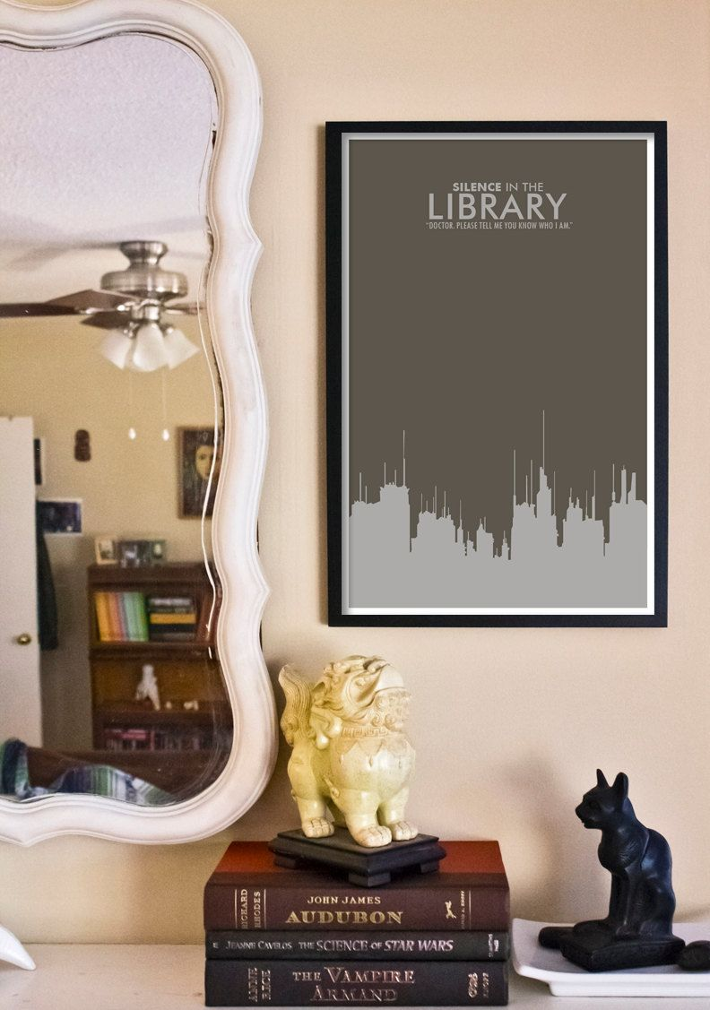 doctor who poster silence in the library 11x17 science fiction rh pinterest com