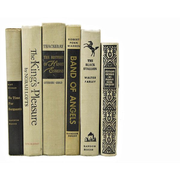 VINTAGE BEIGE 1950s Decorative Books, Wedding Decor, Centerpiece,... ❤ liked on Polyvore featuring books and fillers