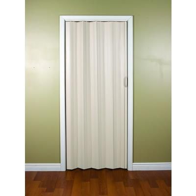 Spectrum Sienna 24 To 36 Inch Cottage White Accordion Folding Door