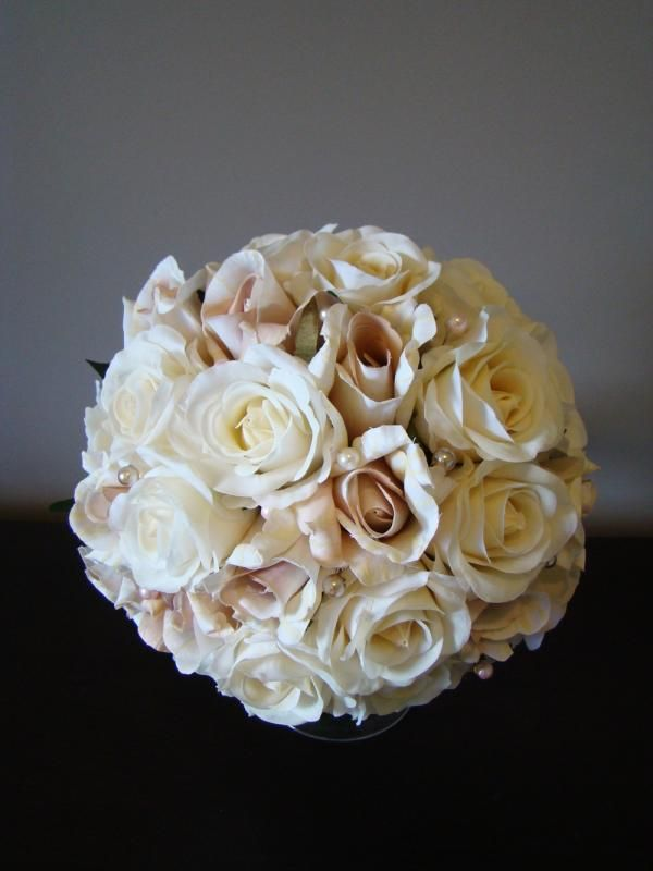 Ivory u0026 Champagne Rose Bouquet by How