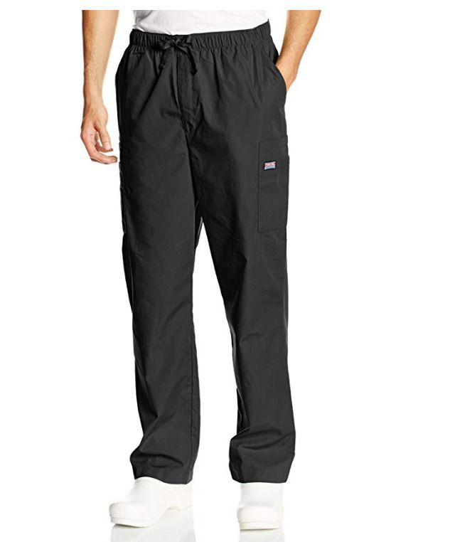 2cc0d0f6a0e eBay #Sponsored Black Cherokee Scrubs Workwear Mens Drawstring Cargo Pants  4000 BLKW Large Short