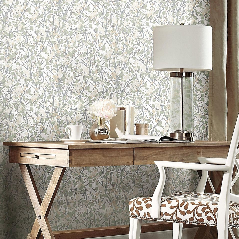 Roommates Willow Branch Peel Stick Wallpaper Bed Bath Beyond Peel And Stick Wallpaper Room Visualizer Roommate Decor