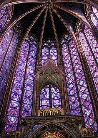 Beautiful Sainte Chapelle Paris France Stain Glass Windows | Etsy