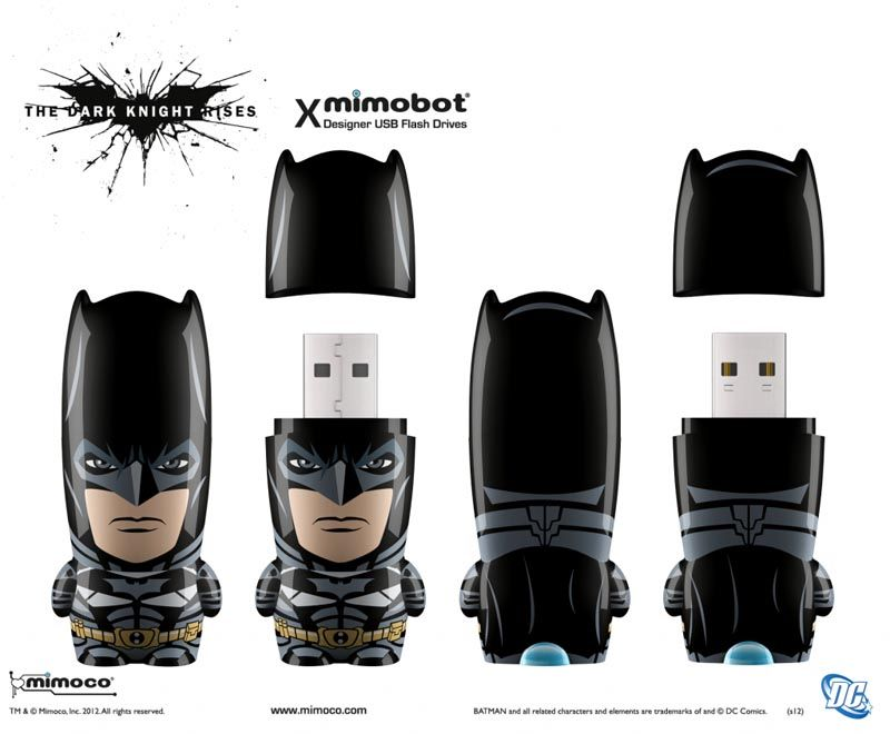 Mimoco The Dark Knight Rises Mimobot Usb Flash Drive Series Gadgetsin The Dark Knight Rises Thumb Drive Flash Drive