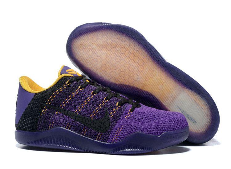newest 6a2a4 cccd1 Nike Flyknit Kobe 11 Shoes Black Purple