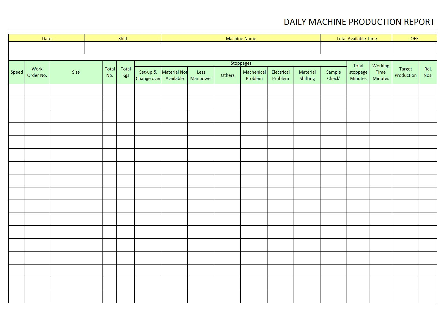 The Enchanting Production Report Template Free Examples Format In Excel Intended For Monthly Pro Excel Templates Business Report Template Sales Report Template