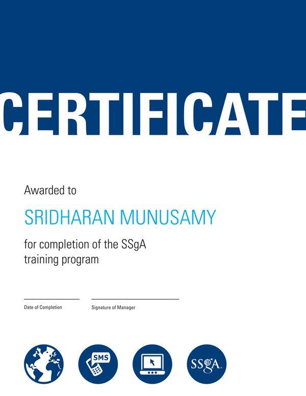 SSgA Certificate by Taryn Sadauskas, via Behance Certified - copy marriage counseling certificate template