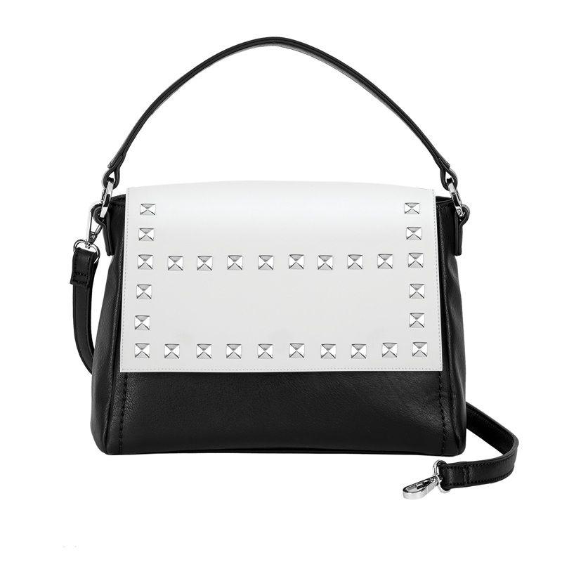 Versa Interchangeable Handbag Blackandwhite
