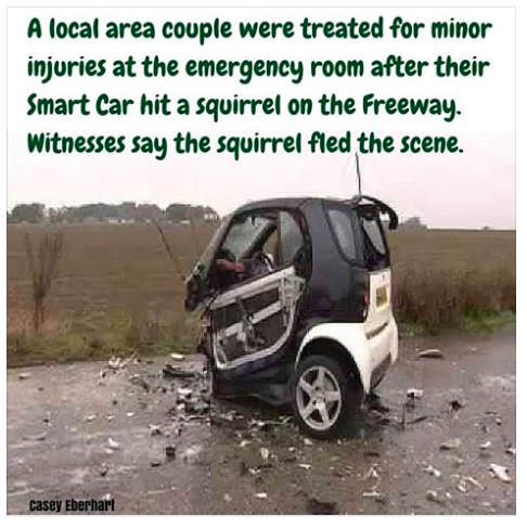 Smart car crash