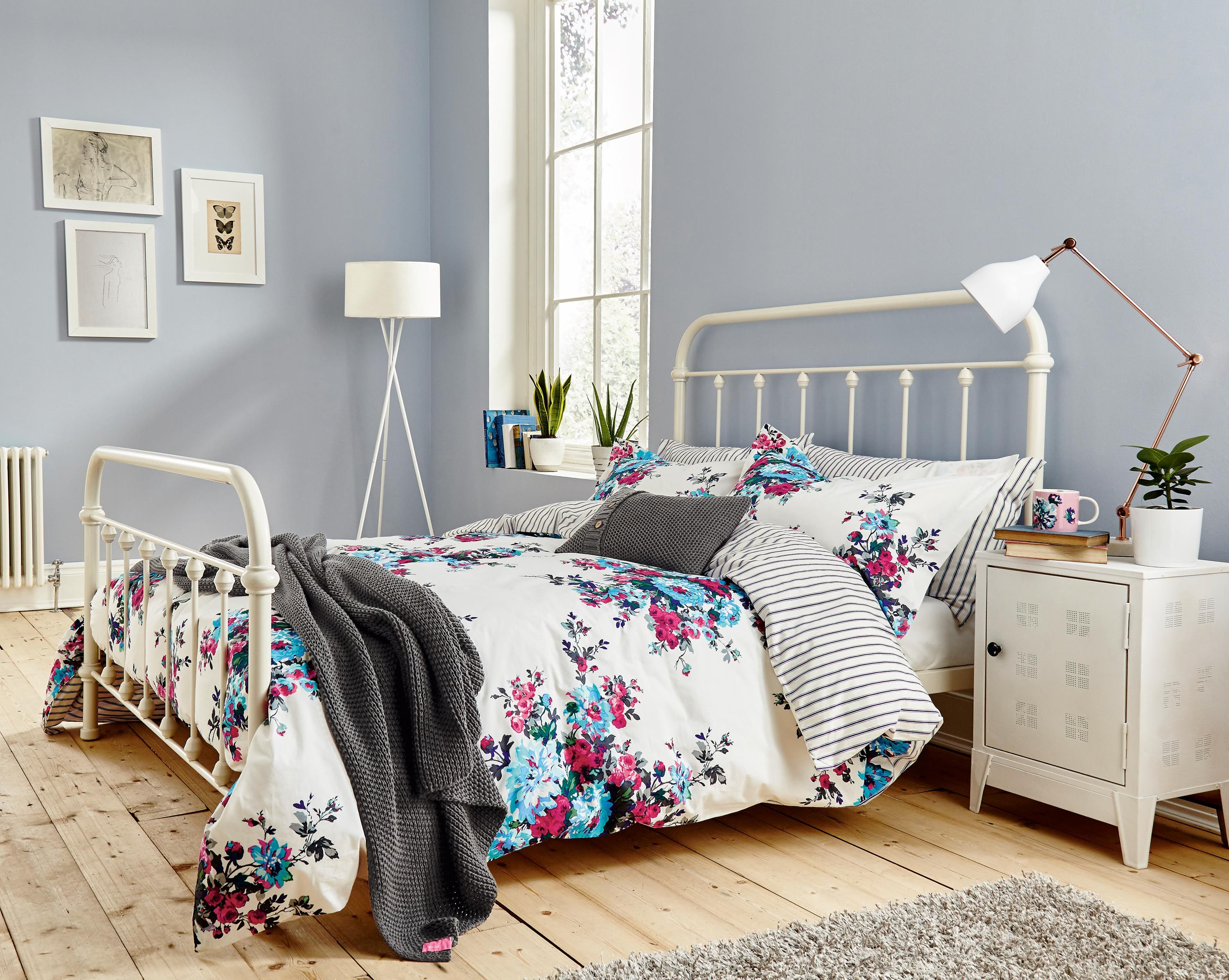Buy Joules Charlotte Floral Cotton Bedding Standard