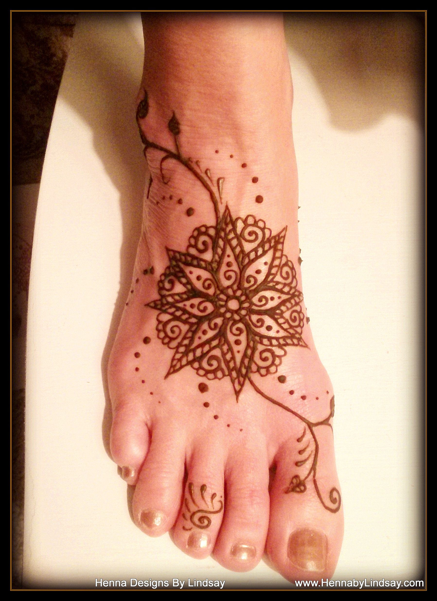 Leg Flower Henna Tattoo: Henna Flower On Foot By Henna Designs By Lindsay Www