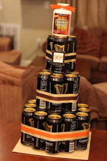 30th birthday ideas - beer cake