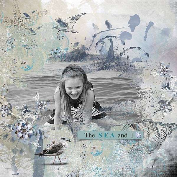 """""""The Cold Sea"""" -  marine set in traditional shades of blue. Ideal for summer and holidays."""