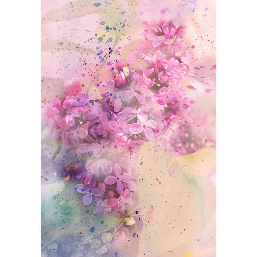 Watercolor Spring Flowers Bokeh Photography Backdrop Easter