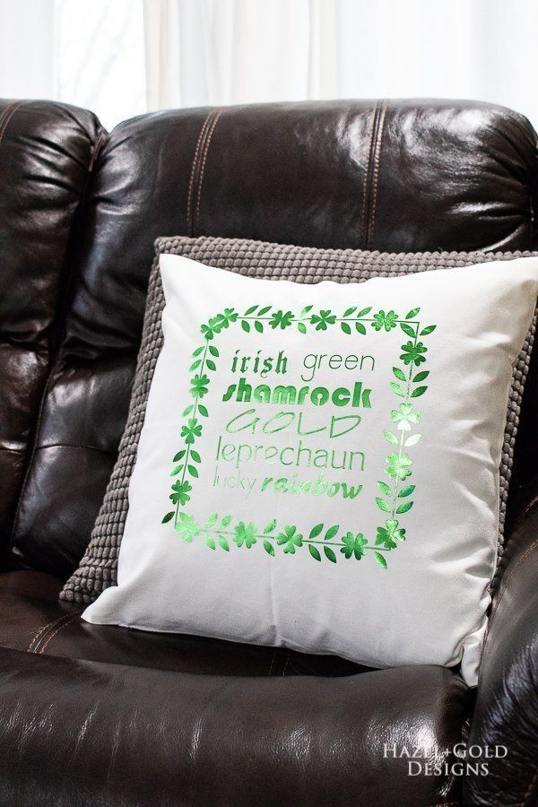 diy st patrick s day pillow best ideas for the home diy rh pinterest com