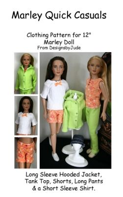"Dazzling Doll Clothes Sewing Pattern 12/"" Marley /& 14/"" Patience dolls Tonner"
