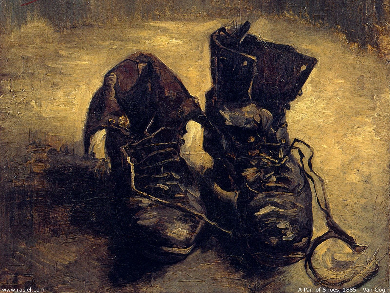 Framed Print , Vincent Van Gogh Replica Old Boots Shoes