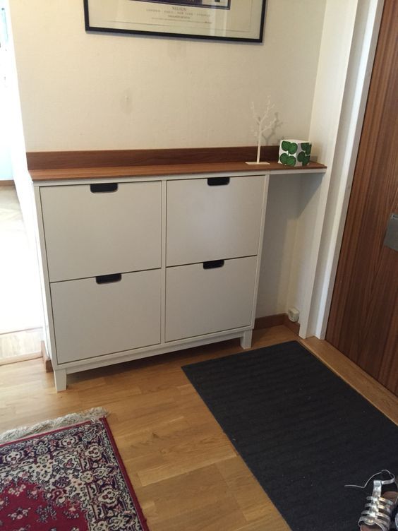 Revamp Your Ikea Stall Grace With A Coherent Rich Colored Wooden Countertop To Give It A Ch En 2020 Armoire A Chaussures Ikea Rangement Maison Detournement Meuble Ikea