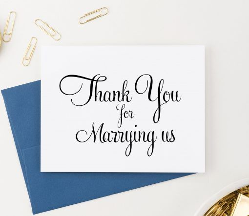 Officiant thank you card, Wedding thank you notes, Thank you for - wedding thank you note