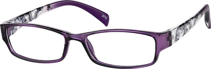 Zenni Women's Rectangle Prescription Eyeglasses Purple
