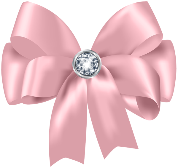 Beautiful Pink Bow With Diamond Png Clip Art Pink Bow Free Clip Art Clip Art