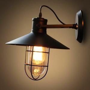 Applique Murale Design Lampe Rétro Industrielle 27*33cm 110-220V ...