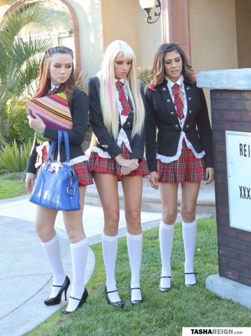 Uniform Chubby teens in school