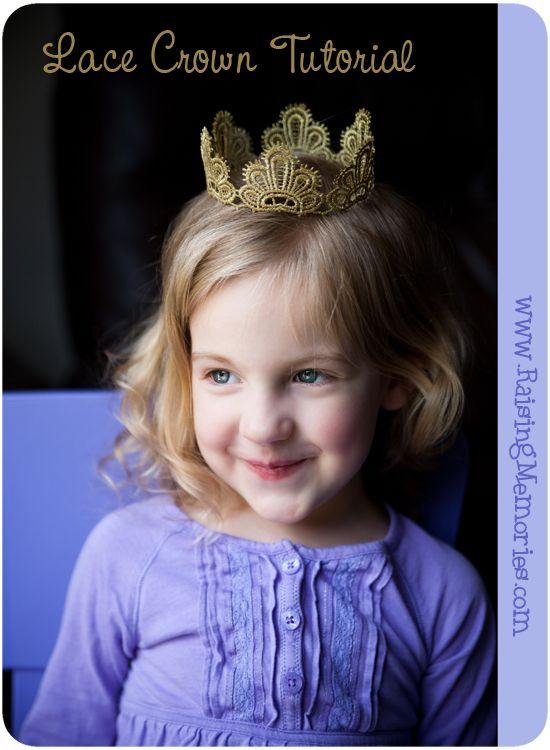 DIY Lace Crown Tutorial from www.RaisingMemories.com