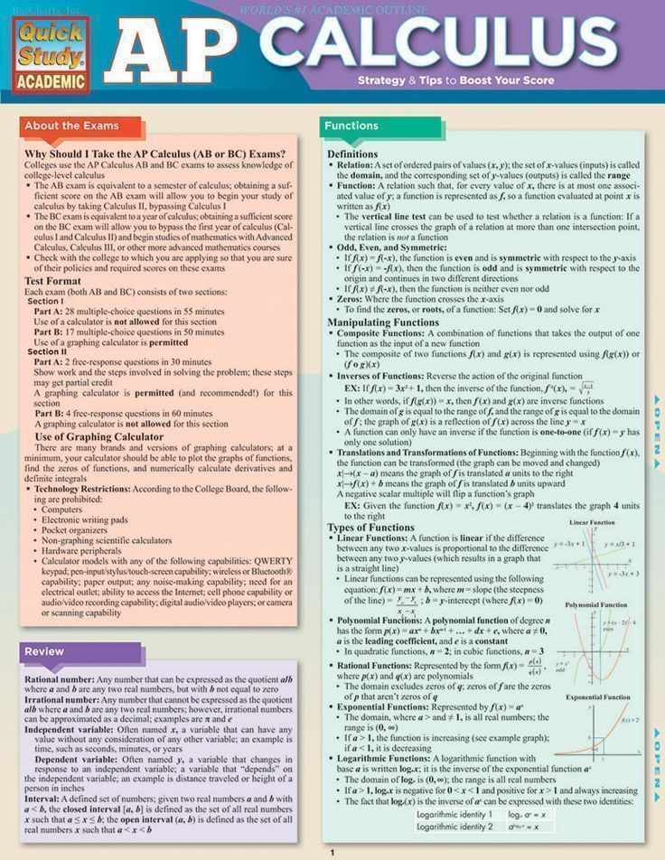 AP Calculus Tips. Good review sheet for those taking the AP Exam ...
